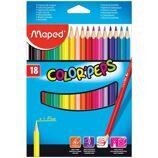 "Карандаши Maped ""Color Peps"", 18цв., трехгран., заточен., картон, европодвес"