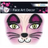 "Наклейки для лица Herma ""Face Art. Cat"", 12*12,7см"