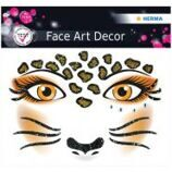 "Наклейки для лица Herma ""Face Art. Leopard"", 12*12,7см"
