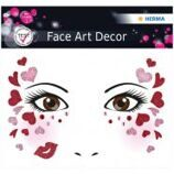 "Наклейки для лица Herma ""Face Art. Love"", 12*12,7см"